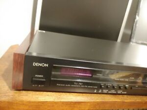 DENON TU-767 FM Stereo Tuner With Original Wood Panels