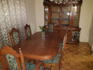 Dinner table and set