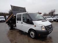 FORD TRANSIT 2.4TDCi Duratorq | TIPPER - LWB | DOUBLE CAB | 1 OWNER | LOW MILES