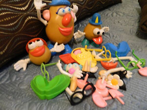 Mr. Potato Head + Baby toy lot + collectible bear