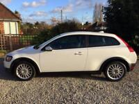 **VOLVO C30 2.0D SE LUX 3 DOOR COUPE** IN WHITE** FULL BLACK LEATHER**