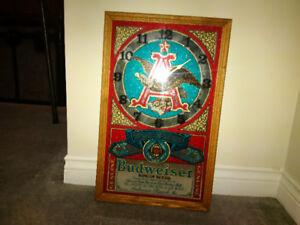 Vintage American Eagle Budweiser Clock
