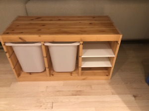 IKEA Trofast with Large Bins and Two Shelves