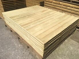 🛠New Straight Top Feather Edge Wooden Fence Panels * High Quality