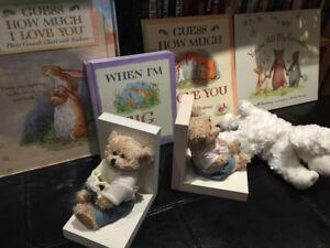Baby Teddy Bear Bookends