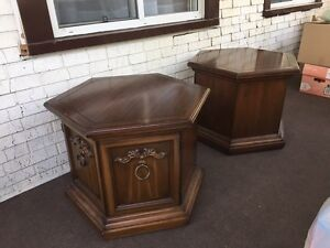 Antique wooden end tables London Ontario image 2