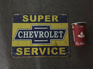 Chevrolet Service Sign Metal GM Man-Cave