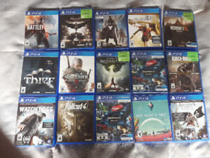 Ps4 games for sale. 15 each or take all. Price negotiable