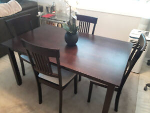 Compact Dining Table & 4 Chairs