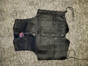 biker faux leather vest