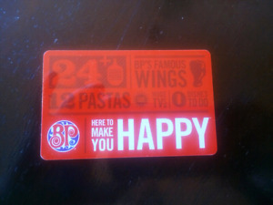 Boston Pizza Gift Card