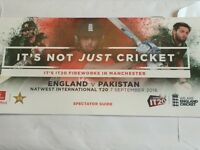 6 x members ticket for England vs Pakistan T20 07.09.2016