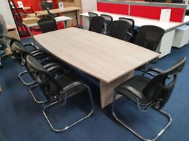 New Boardroom Table 2.4m £249+vat, huge Glasgow Showroom
