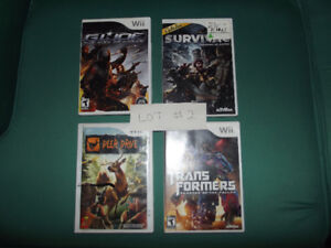 Lot of various wii games