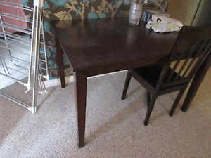Dark Wood, Square Dining Table - No chairs included Kitchener / Waterloo Kitchener Area image 1