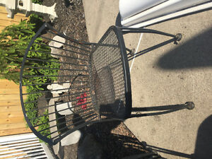 6 Rod iron chairs patio chairs