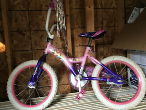 Girls Huffy Disney princess bike with reverse pedal braking