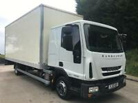 2012 12 Iveco Eurocargo 75E16 EEV sleeper cab 20ft box column tail-lift