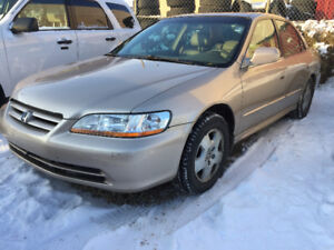 2002 HONDA ACCORD FULLY LOADED LEATHER HEATED 177000  KM INSPECT