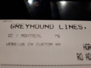Billet d'autobus aller-retour Greyhound Mtl-NY-Virginia beach