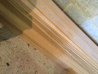 Laminate flooring light oak Howdens