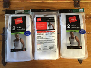 New! Hanes 2 pack of white tanks men's size small reduced! Kitchener / Waterloo Kitchener Area image 1