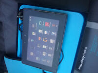 Blackberry playbook with charger and protective case and orig.bo