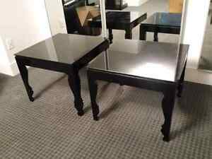 Two Black End Tables