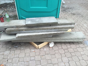 We are selling (11) concrete stair slabs or retaining wall ledge