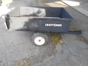 Craftsman dumping trailer for lawn tractor