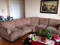 EARTH TONED SECTIONAL SOFA ONLY $250