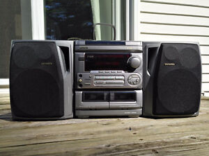 Aiwa CX-NA30 Stereo Double Cassette Tape 3-Disc CD Player