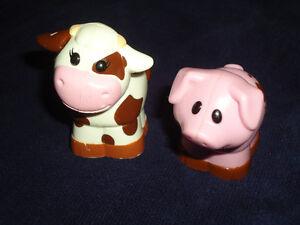 Large Size blocks style MEGA BLOKS Cow and Pig Farm Toys