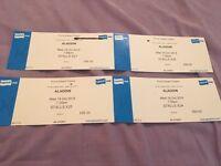 4x Aladdin theatre tickets