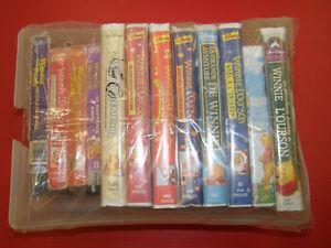 Lot de 12 Film Disney VHS Winnie l'Ourson - 12/20$