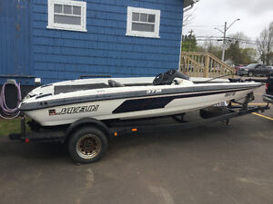 18 ft BASS BOAT AND TRAILER