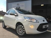 2013/13 Ford Ka 1.25 Zetec Stop/Start Edition Crystal White LOW MILES + 1 OWNER!