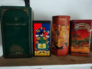 10 bar tins from the 90s..Baileys, Tia Maria, Appleton Rum, Wine