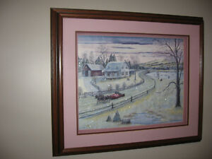 Hand crafted picture with lamp St. John's Newfoundland image 1