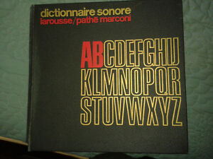 disques 33 tours dictionnaire sonore larousse/pathémarconi