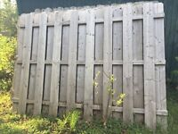 11 sections of 6x8 shadowbox fence