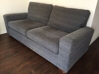 NEXT 3 seater sofa & snuggle chair, (Sonoma) grey.