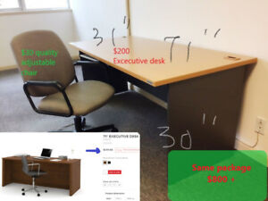"71"" Executive Desk - excellent condition - moving sale"