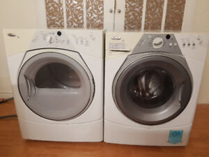 "Whirlpool 27"" stack front load washer dryer"