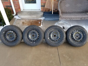 195 65R 15 HIFLY WINTURI WINTER SNOW TIRES & RIMS 5X112 BOLT
