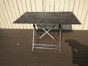 Wrought Iron Folding Table - Patio, Balcony, Indoor, Outdoor
