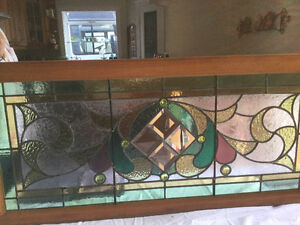 Antique late 1800's Stained Glass Window