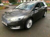 2016 65 Grey Ford Focus 2.0 Tdci Titanium X Estate 131K FSH High Spec Cheap EST
