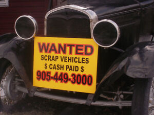 ( CASH ) TODAY/ SCRAP / CARS / TRUCKS / VANS.(( 905-449-3000 ))