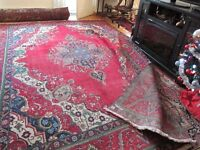 PERSIAN CARPET-HANDKNOTTED-BEAUTIFUL RICH DLOURS-13'X10' $300.